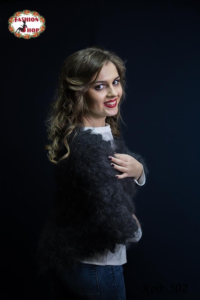 Оренбургский пуховый платок-косынка Беатриса 140х100см