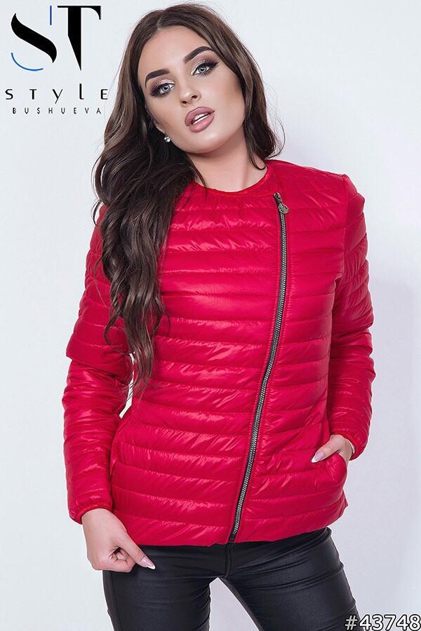 ff815c78db9 Женская стильная стеганая куртка-косуха на синтепоне - Интернет - магазин