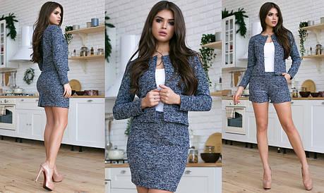Костюм тройка пиджак, шорты, юбка в расцветках 702133, фото 2