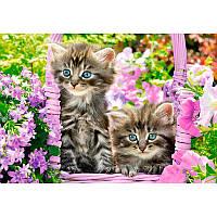 "Пазлы Castorland 104086 ""Котята в саду"""