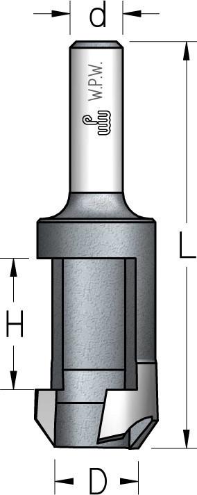 Пробочник с цилиндрическим хвостовиком D12,7 d8 Z1