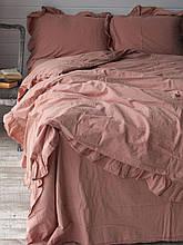 Комплект постельного белья из  вареного хлопка размер евро LIMASSO CAMEO BROWN EXCLUSIVE