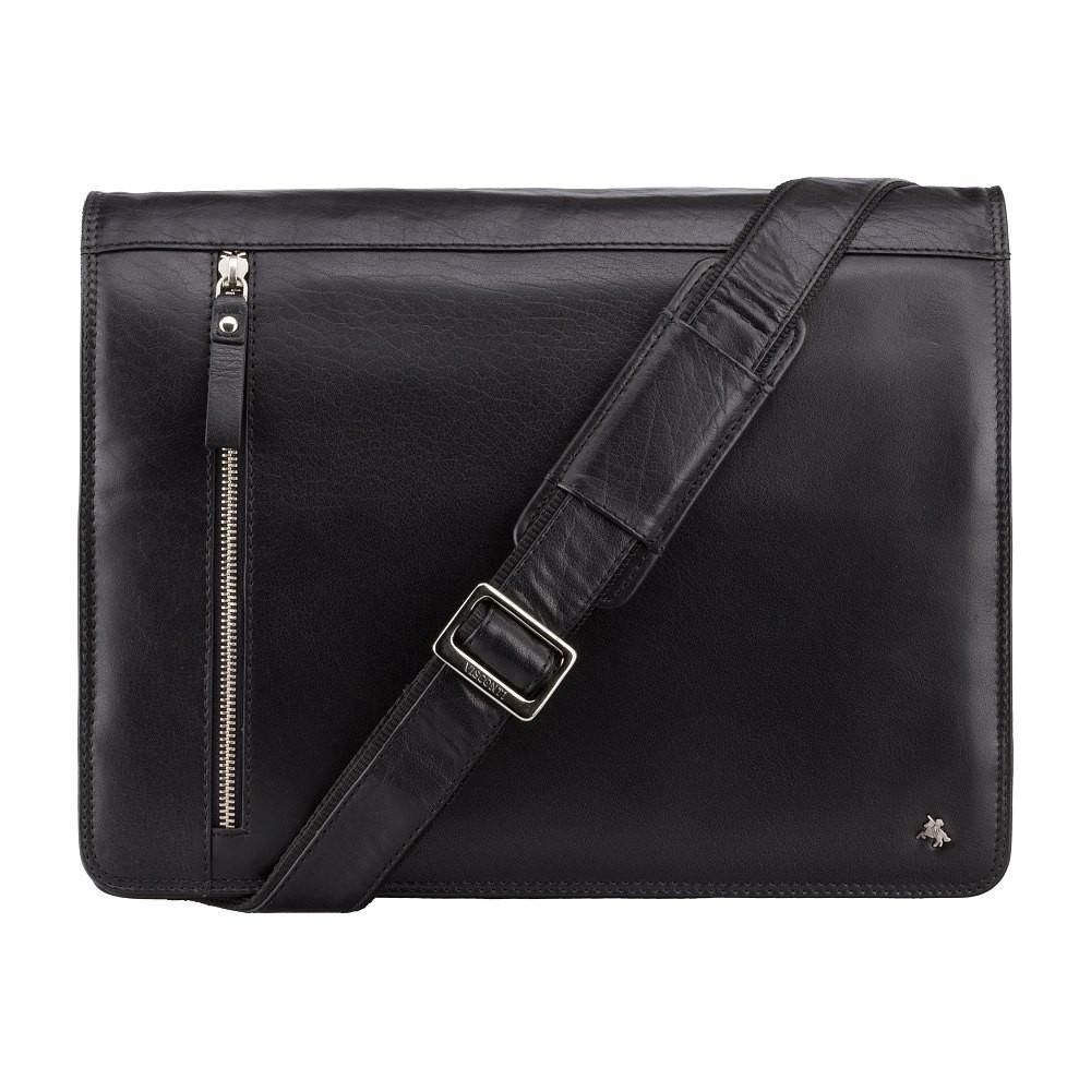 Містка чоловіча сумка Visconti ML23 black (Великобританія)