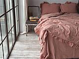 Комплект постельного белья из  вареного хлопка размер евро LIMASSO CAMEO BROWN EXCLUSIVE, фото 2