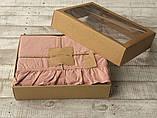 Комплект постельного белья из  вареного хлопка размер евро LIMASSO CAMEO BROWN EXCLUSIVE, фото 4