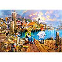 "Пазлы Castorland 104192 ""Рыбалка на пристани"""