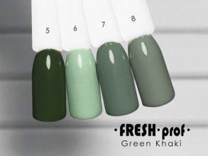 Гель-лак Green Khaki № 8 FRESH Prof