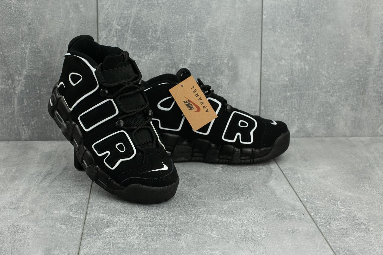 Кроссовки B 8587 -1 (Nike Air More Uptempo) (весна/осень, женские, искуственная замша, черный)