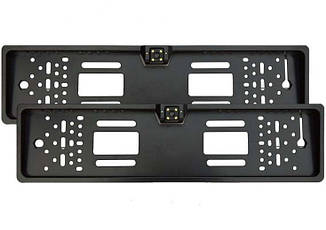 Камера заднего вида в авто в номерной рамке с 4 LED подсветкой (выбор цвета)