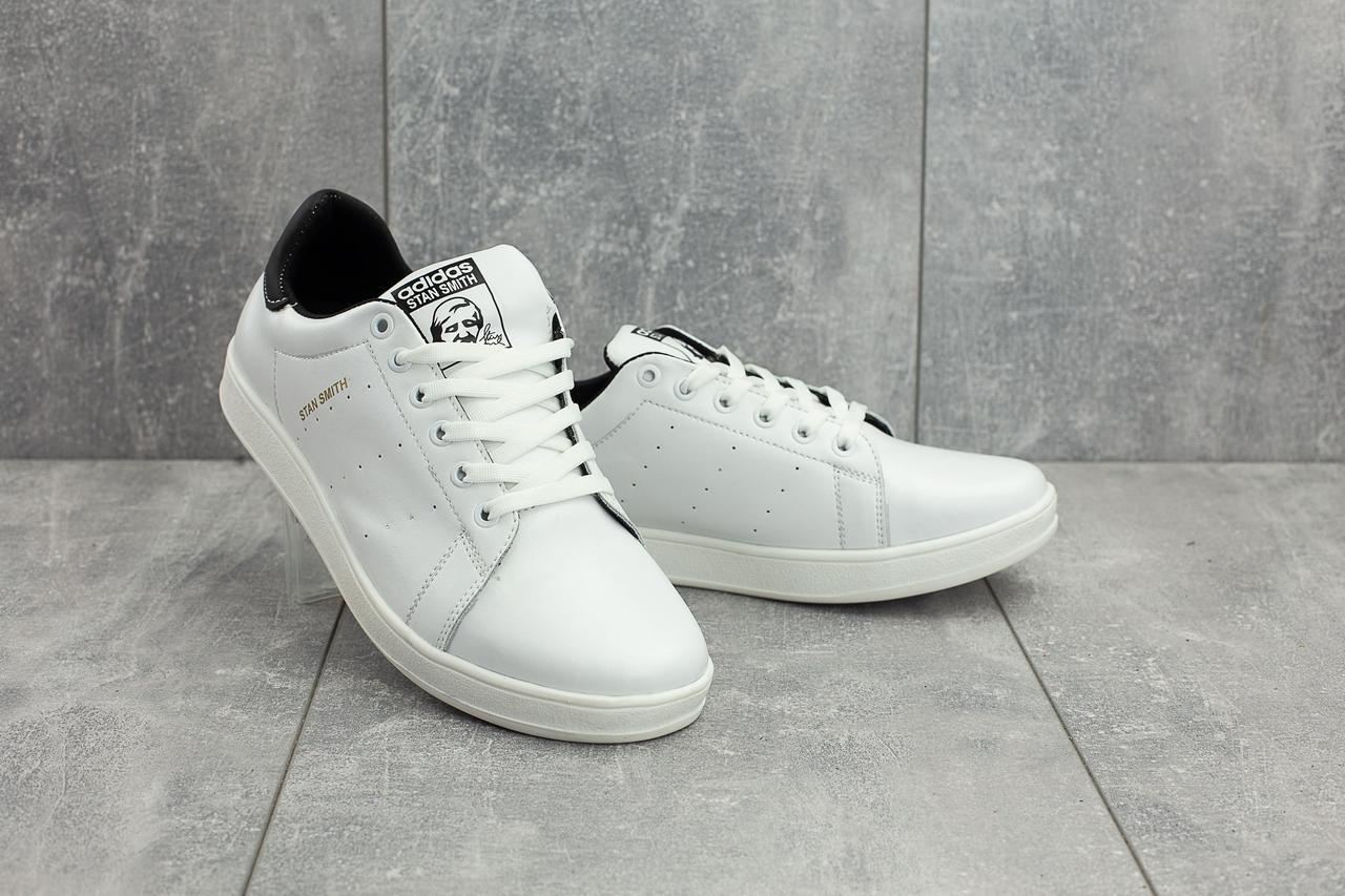 Кеды CrosSAV 113 (Adidas Stan Smith) (весна/осень, мужские, натуральная кожа, белый-черный)