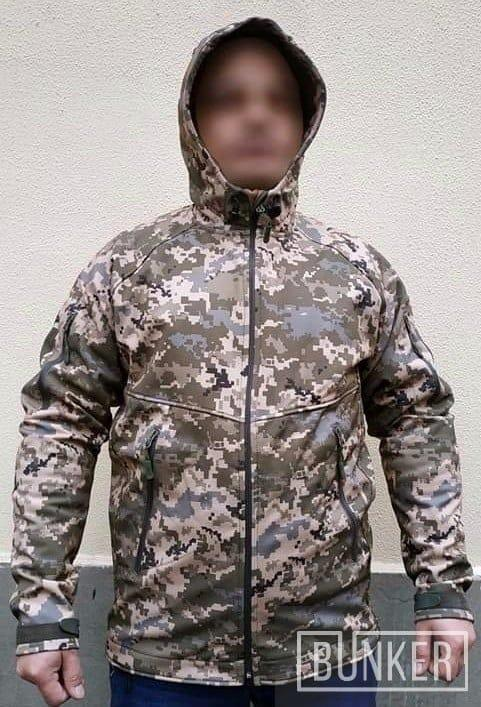 Тактическая куртка софтшел Softshell Sport пиксель ВСУ ММ_14