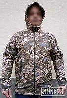 Тактическая куртка софтшел Softshell Sport пиксель ВСУ ММ_14, фото 1