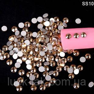 Стрази золоті, упаковка 1440 шт, SS10 - 2,8 мм