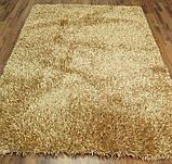 Ковер бежево песочного цвета с длинным ворсом, фото 3