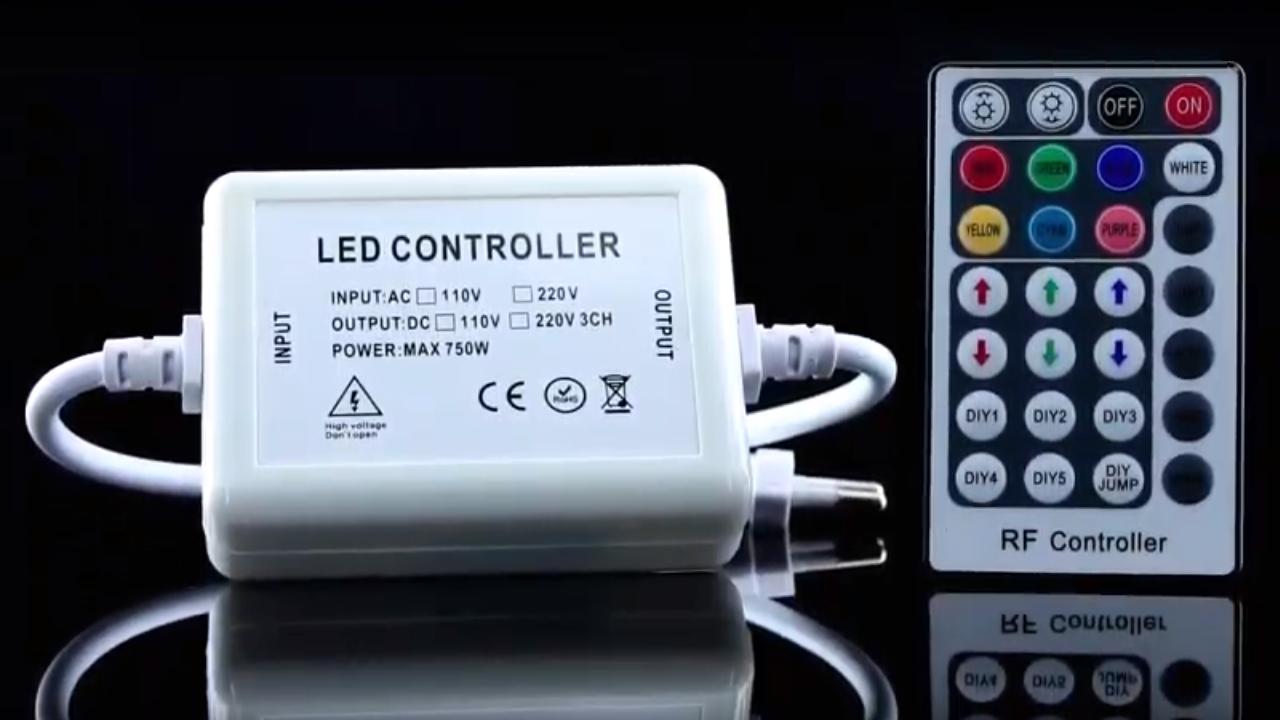 Контроллер RGB 220В OEM 750W-RF-28 кнопок