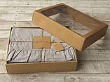 Комплект постельного белья из вареного хлопка  размер евро LIMASSO OPAL GREY EXCLUSIVE, фото 4