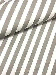 Ткань польская хлопковая, косая серая полоска на белом