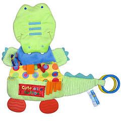 Мягкая развивающая игрушка Крокодил Happy Monkey