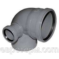 Угол левый (Колено) канализационный 110*90