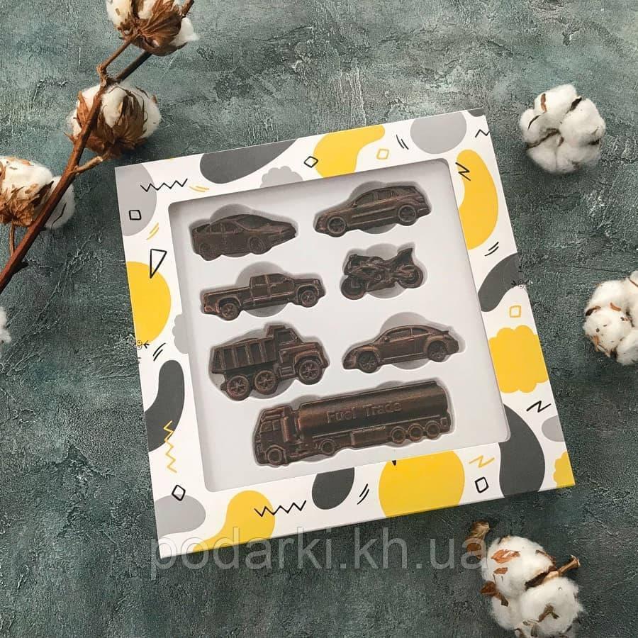 Набор шоколадных автомобилей