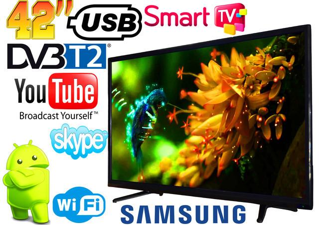"""LED Телевизор Samsung 42"""" SMART TV, DVB-T2 L42 Реплика (LY390D16A180728284W) Wi-Fi, USB HDMI, цена 6210 грн., купить в Харькове — Prom.ua (ID#920368948)"""