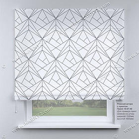 Римская фото штора Треугольники. Бесплатная доставка. Любой размер до 3,5х3,5м. Гарантия. Арт.15-07-40