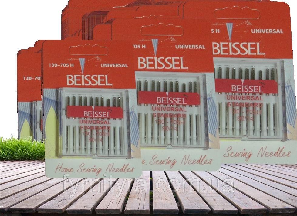 """Набор игл для бытовых швейных машин """"Beissel""""Universal Standart 90 пр-во Германия(уп10игл)"""