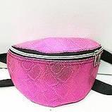 Женские сумки на пояс на 2отд. (беж принт)18*24см, фото 2
