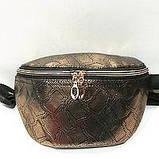 Женские сумки на пояс на 2отд. (беж принт)18*24см, фото 5