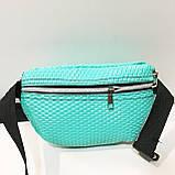 Женские сумки на пояс на 2отд. (беж принт)18*24см, фото 9
