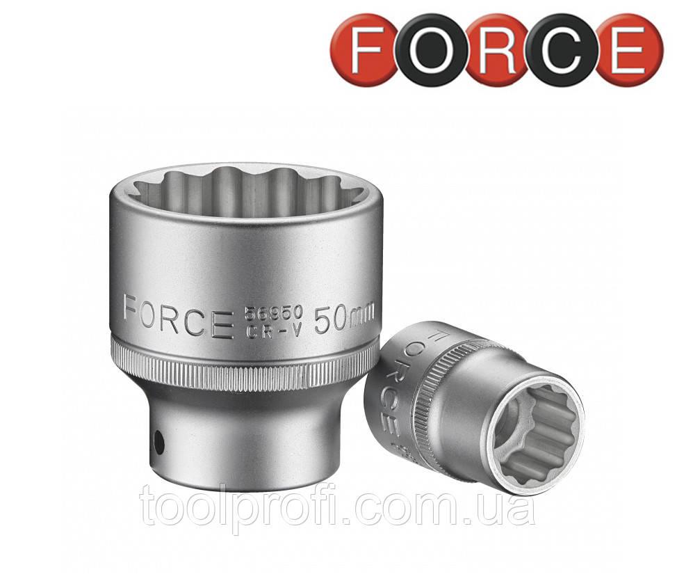 "Головка 12-гранная 3/4"", 52 мм (Force 56952)"