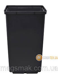 Алеана Вазон для рассады квадратный 6х5.5 см (черный) 119021