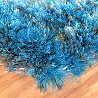 Ковер с длинной ворсой бирюзово голубого цвета, ковры цвет океанская волна купить в Николаеве и Ровно, фото 1