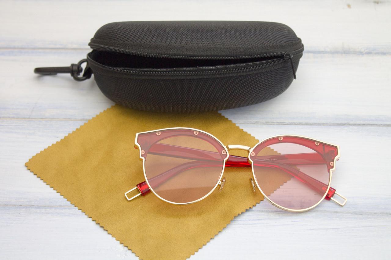 Очки с футляром розовые (F1071-4)