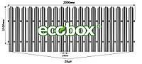 МU-1500х2000/20 Паркан металевий оцинкований Євроштахет ЕСОВОХ© / Забор штакетный металлический