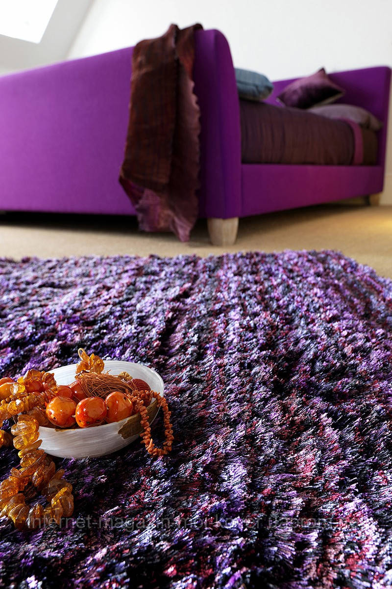 Ковер для пола фиолетового цвета, яркие ковры, цветные ковры купить в Одессе