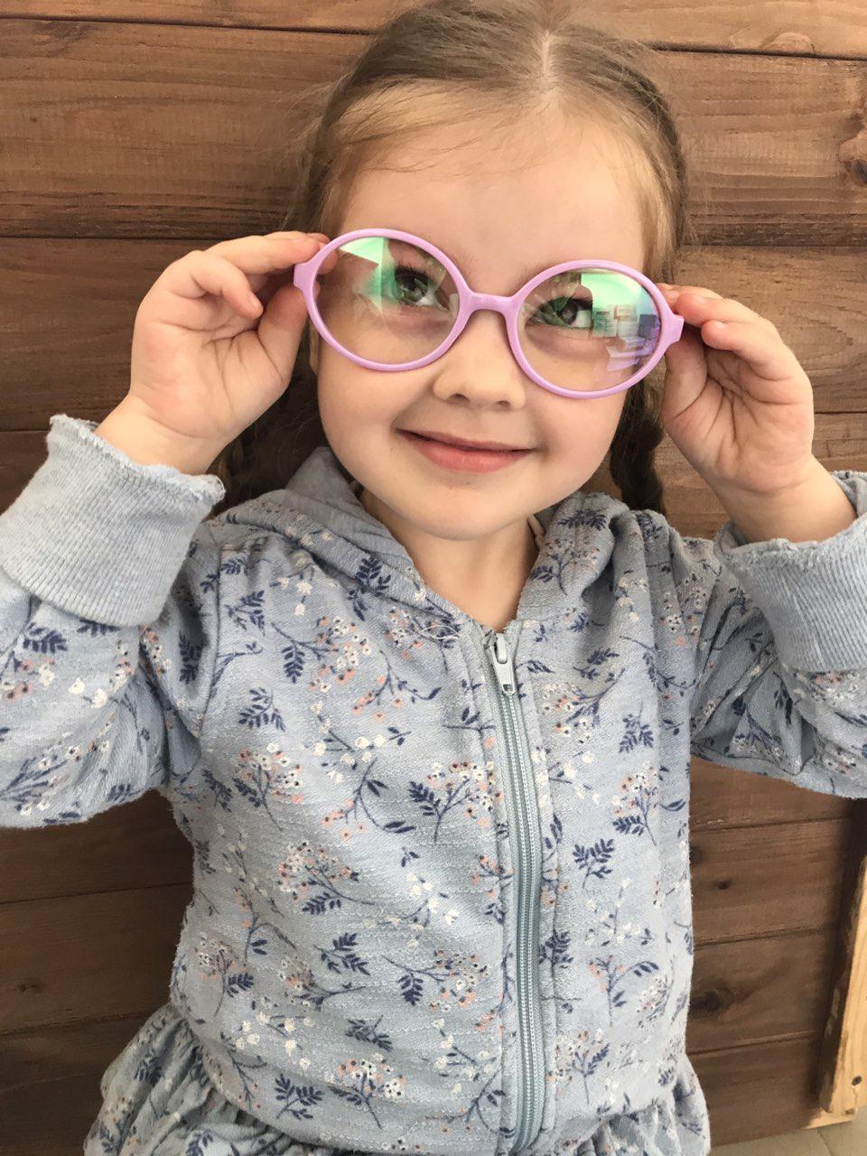 Детские очки для стиля Розовые 2001-6