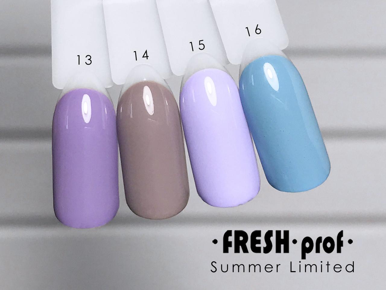 Гель-лак Summer Limited № 15 FRESH Prof