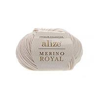 Alize Merino Royal (Ализе Мерино Рояль) слоновая кость №67 (Пряжа, нитки для вязания), фото 1