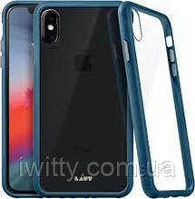 Чохол Laut Accents Tempered Glass Apple iPhone XS Blue (LAUT_iP18-S_AC_BL)