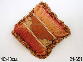 Подушка декоративная 40 х 40 см 21-651