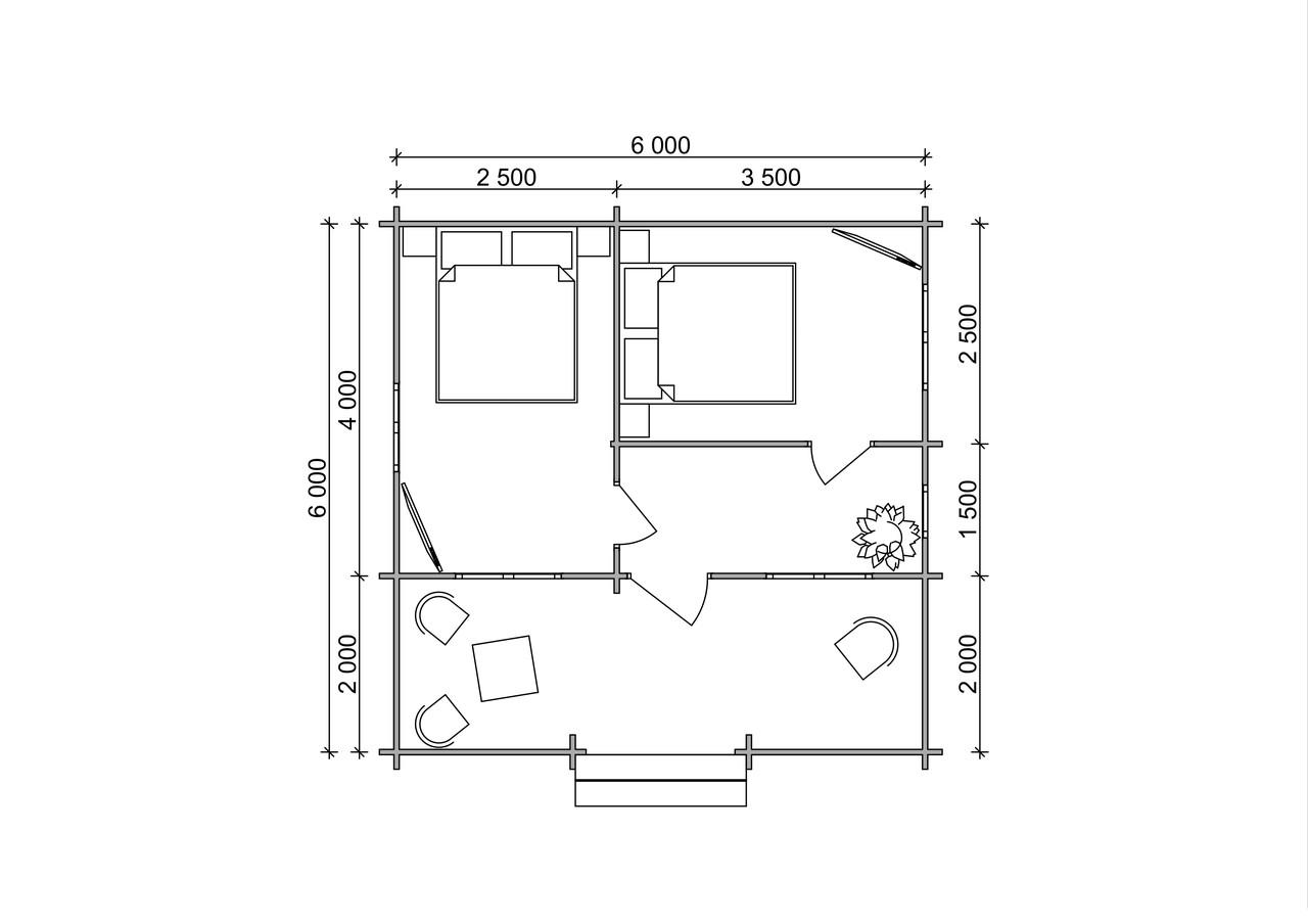 Фото будинку з профільованого бруса