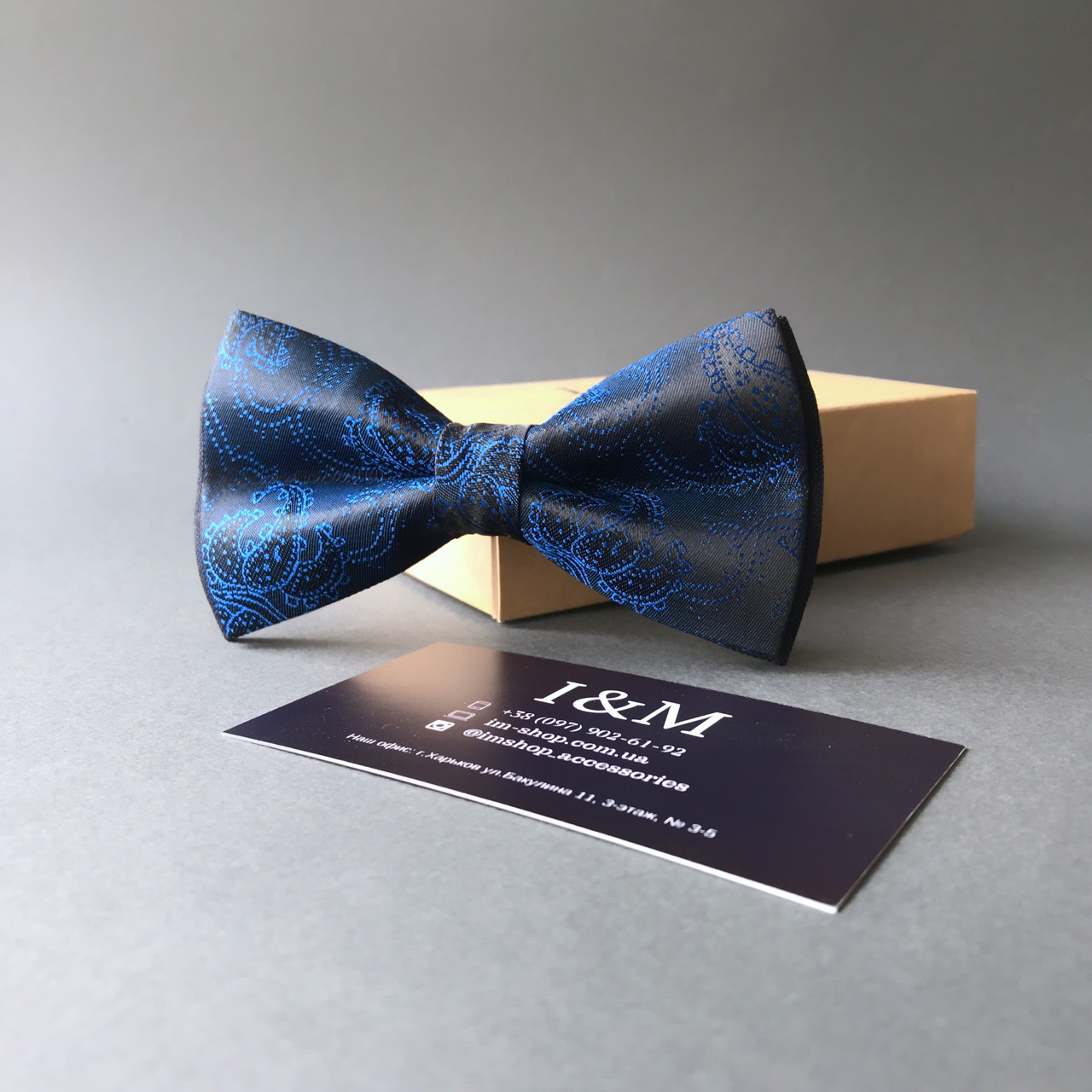 Галстук-бабочка I&M Craft синий (00022)