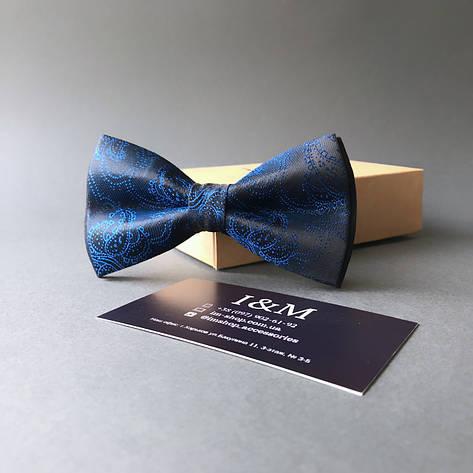 Галстук-бабочка I&M Craft синий (00022), фото 2