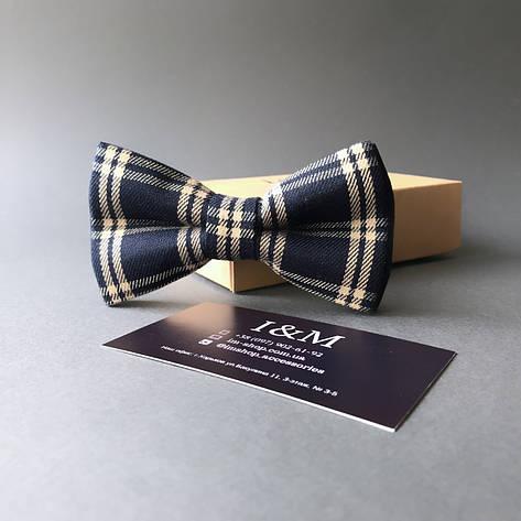 Краватка-метелик I&M Craft темно-синій в клітинку (010408), фото 2