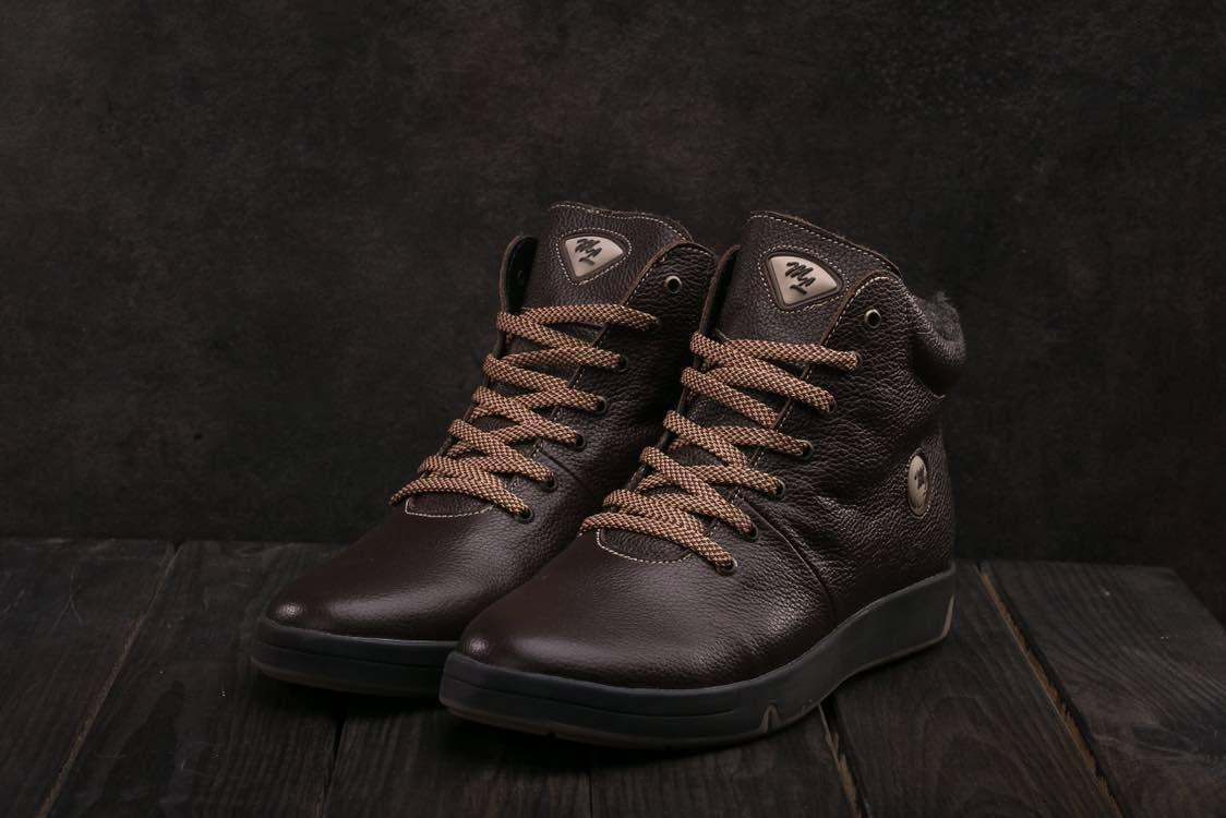 Ботинки Milord Olimp B (зима, мужские, натуральная кожа, коричневый)