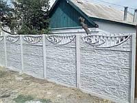 Установка бетонных еврозаборов