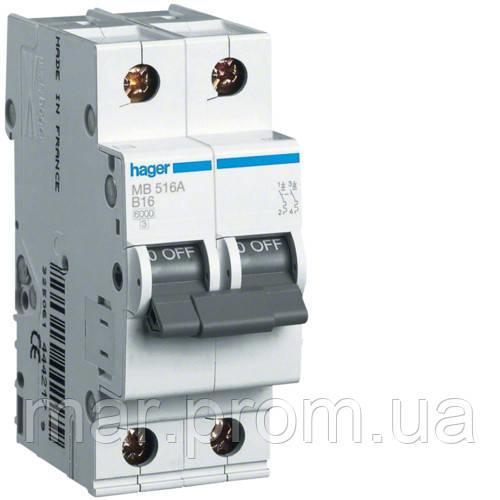 Автоматический выключатель 1P + N 6kA B-6A 2M