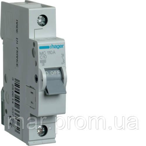 Автоматический выключатель 1P 6kA C-10A 1M