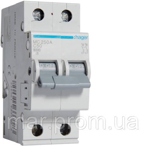 Автоматический выключатель 2P 6kA C-40A 2M